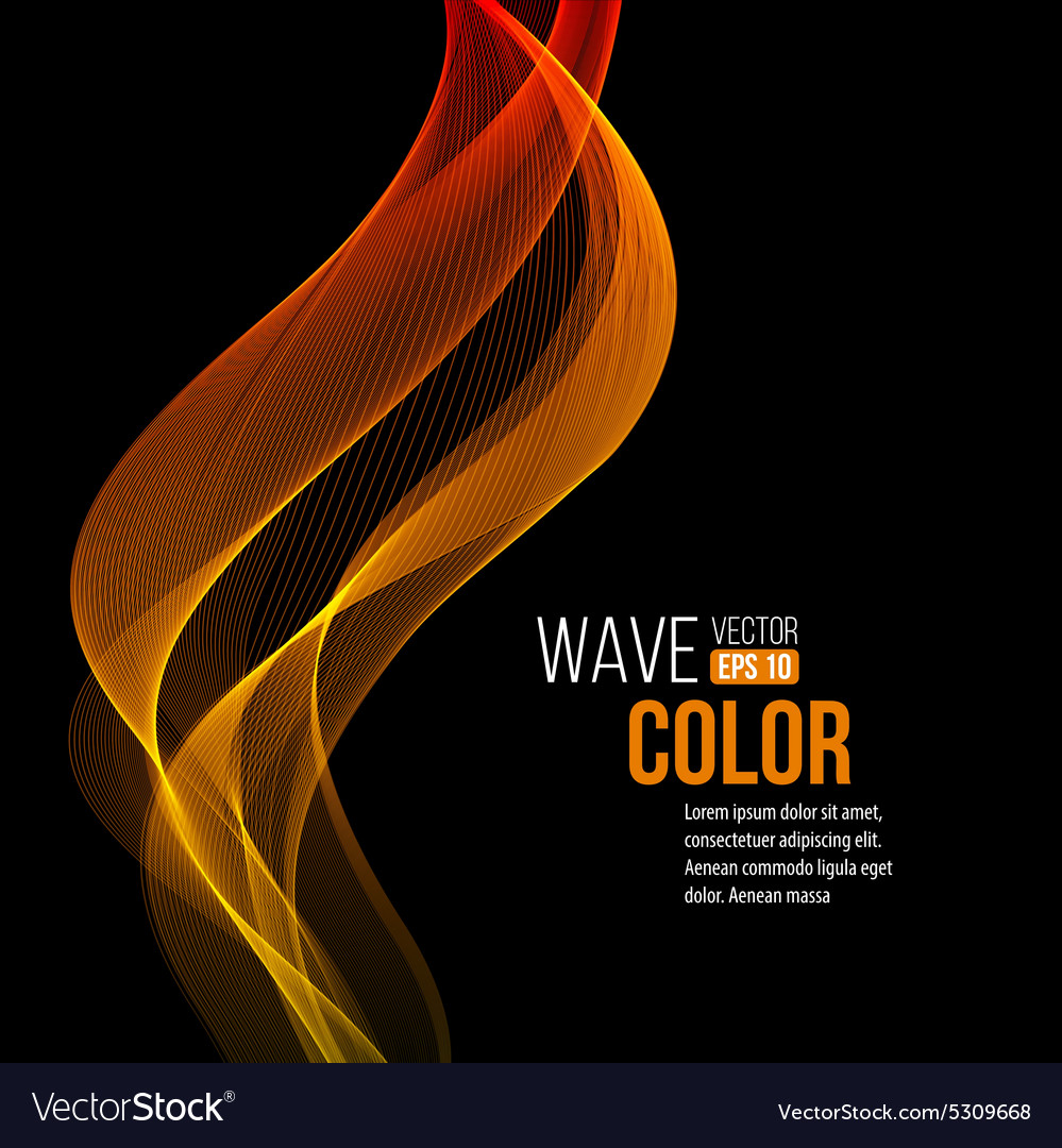 Abstract orange wave light background