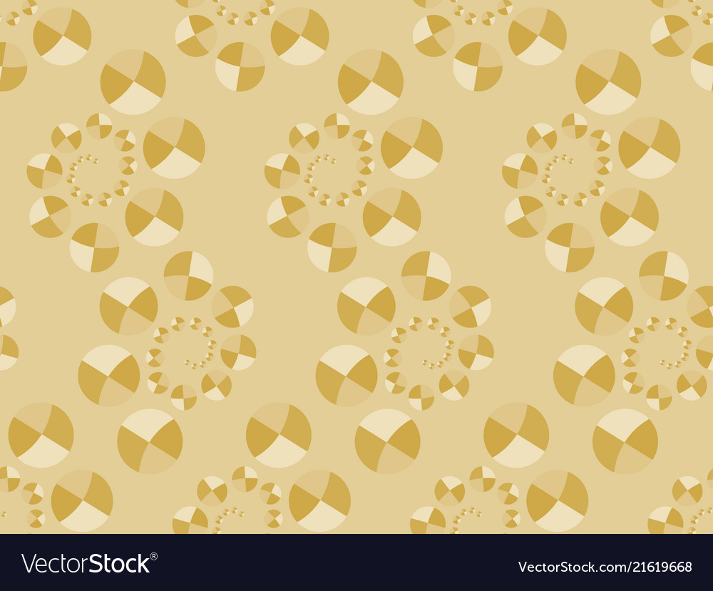 Art deco seamless pattern with circles in gold