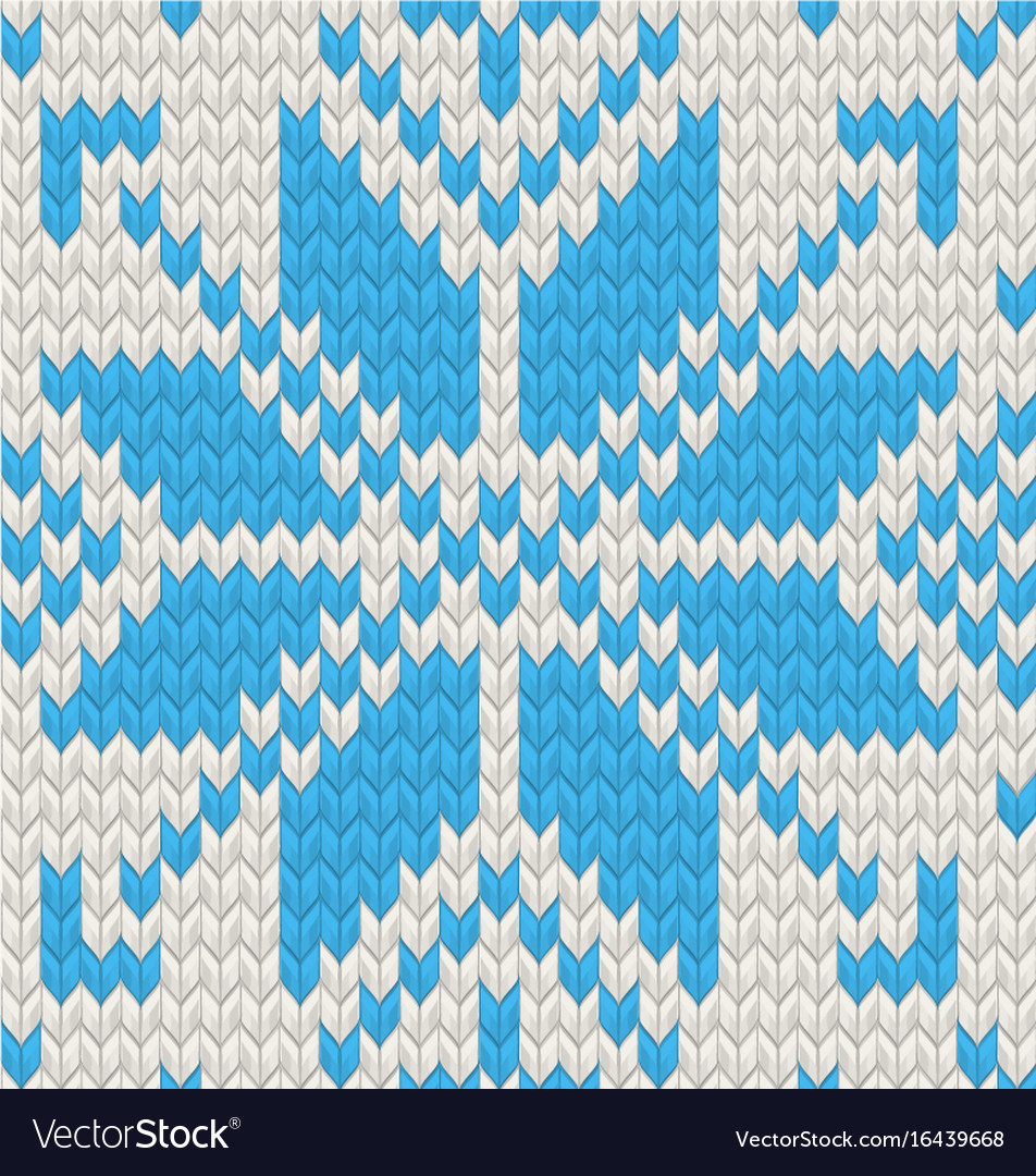 Blue jacquard fairisle seamless knitting pattern