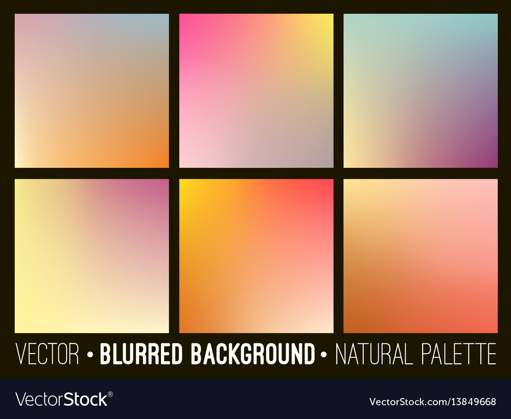 Blurred abstract backgrounds set