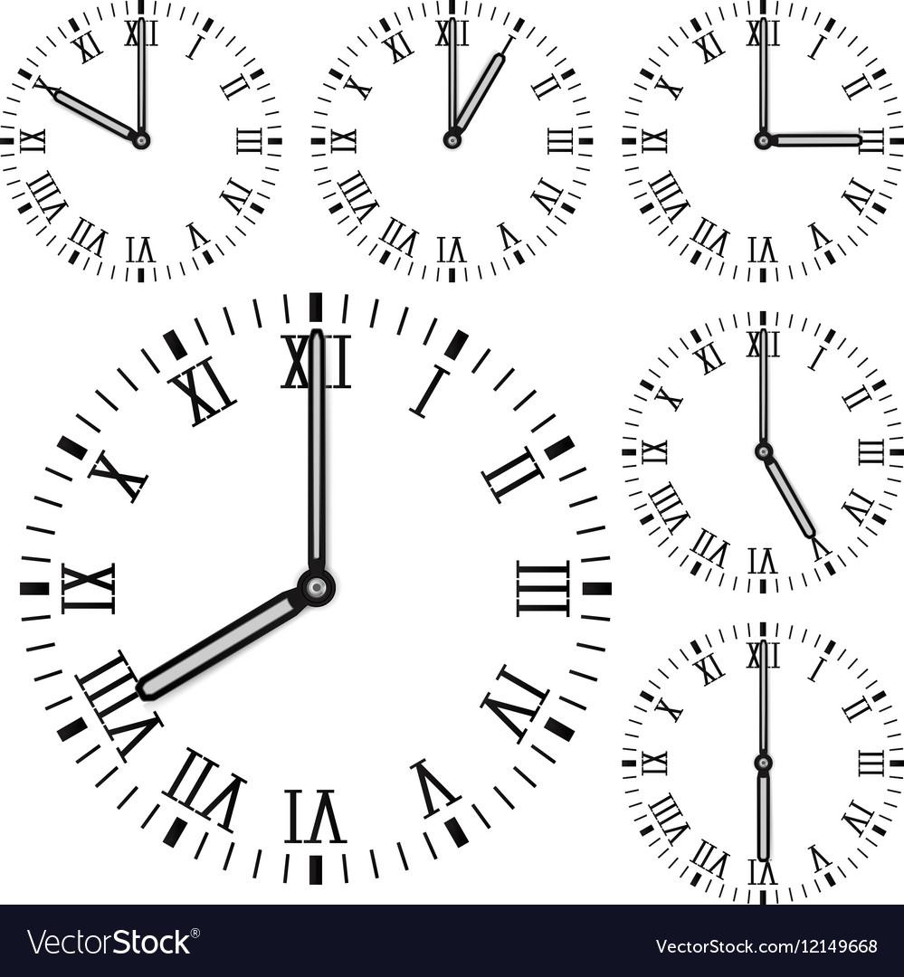 Clock face Roman numerals