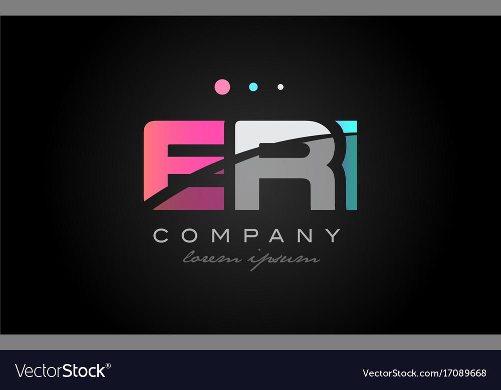Eri e r i three letter logo icon design vector image