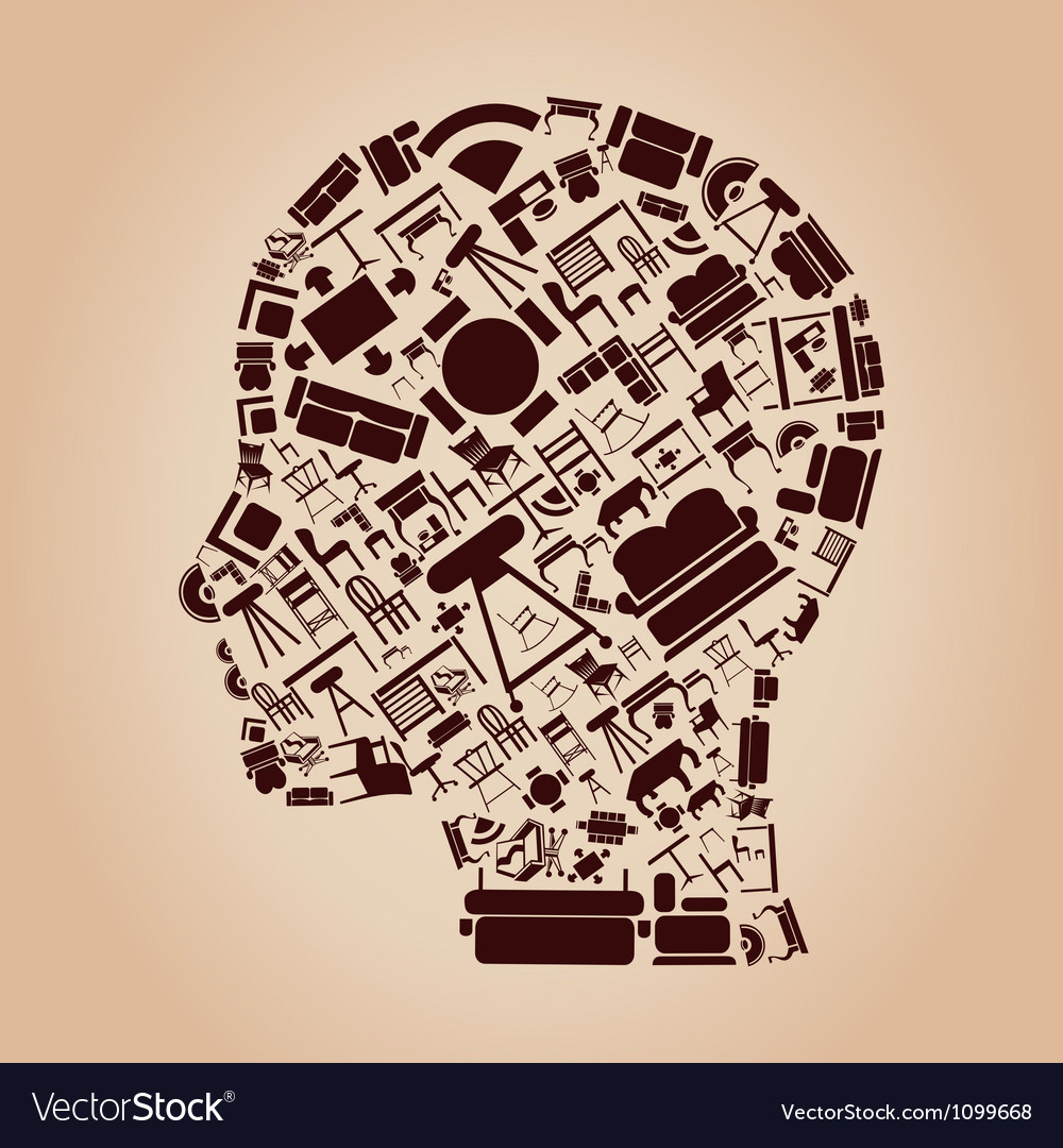 Furniture a head vector image