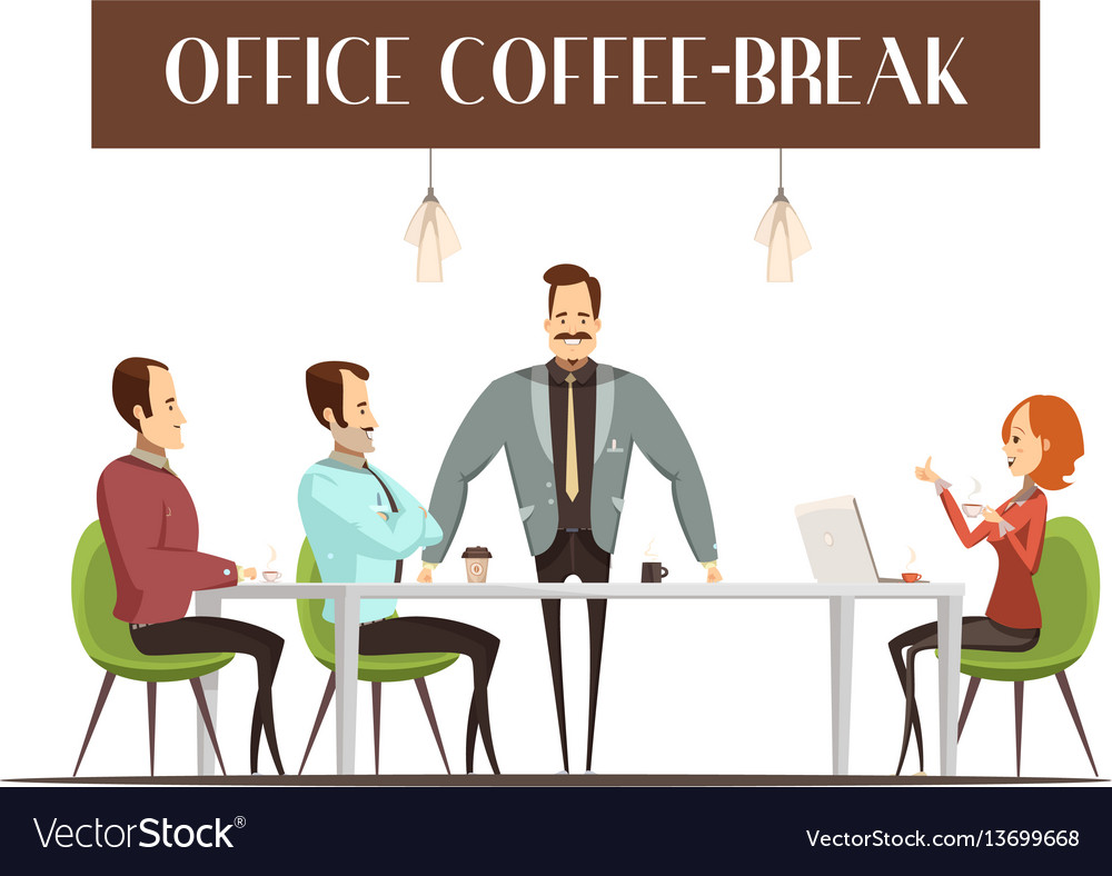 Office coffee break vector image