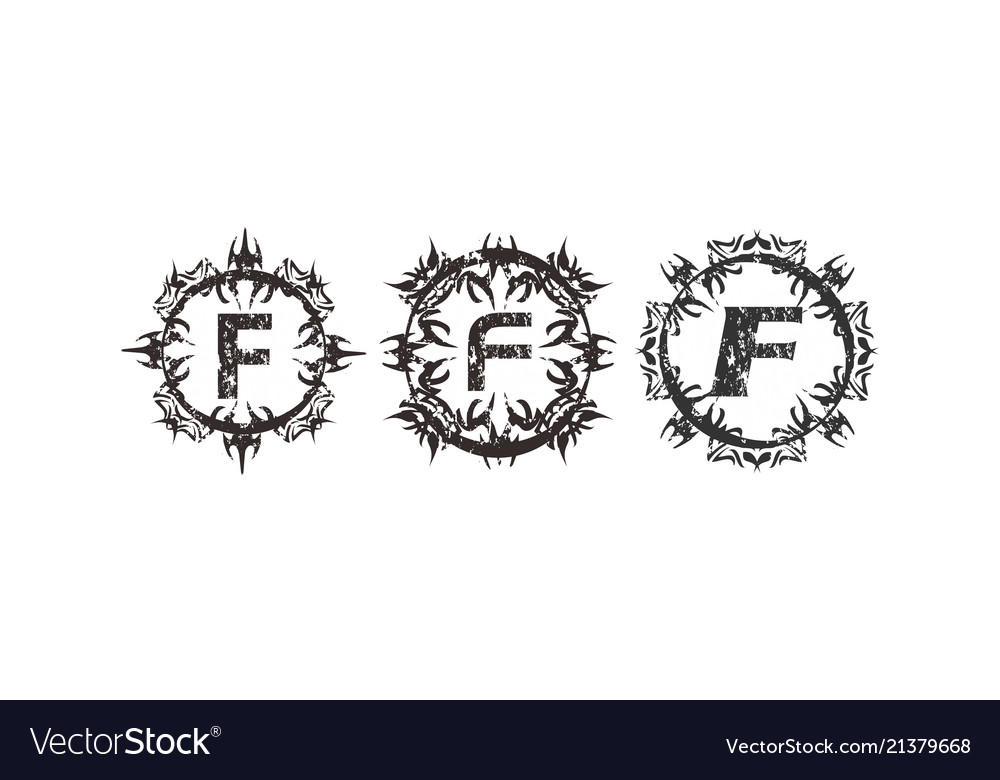 Rough letter f template set royalty free vector image rough letter f template set vector image maxwellsz