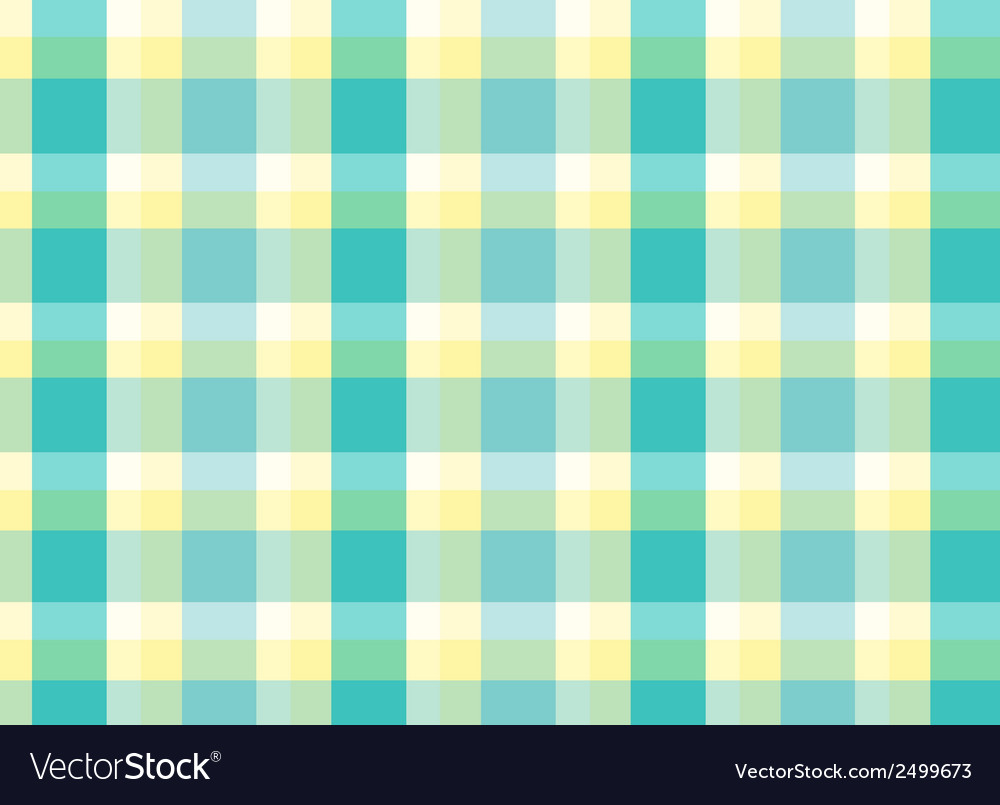 A topview of a checkered table mat