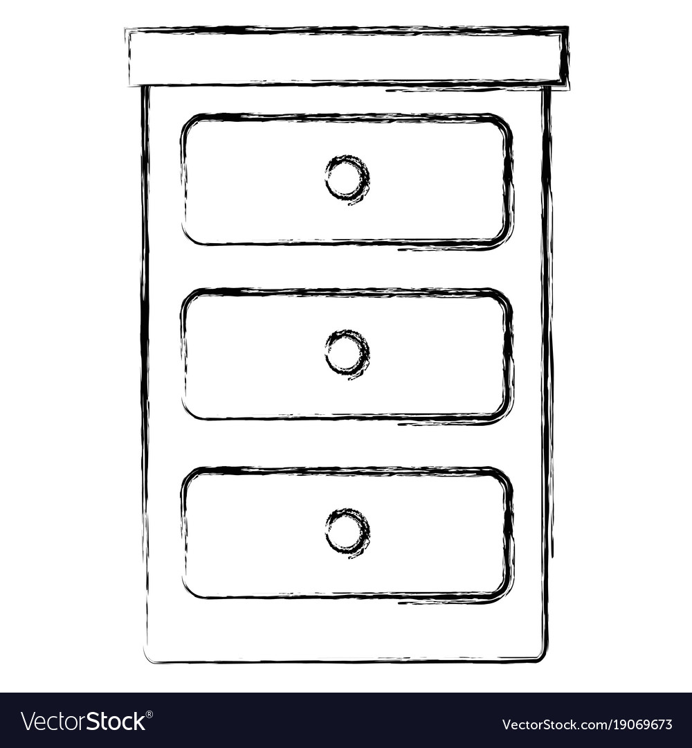 Bedroom drawer isolated icon