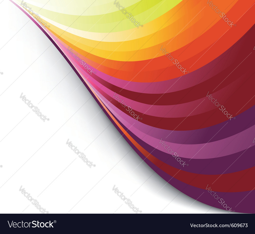 Colorful rainbow background template
