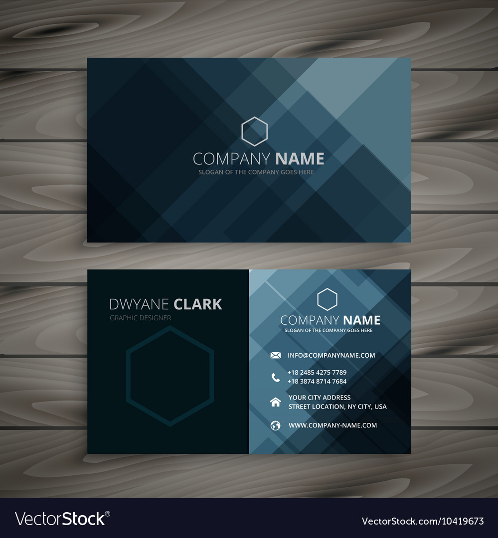 Dark business card presentation royalty free vector image dark business card presentation vector image colourmoves