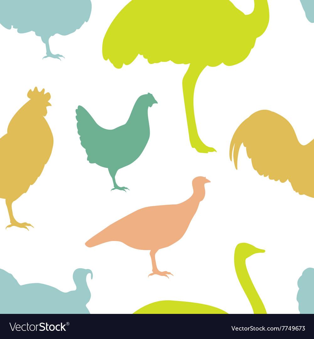 Farm bird silhouettes