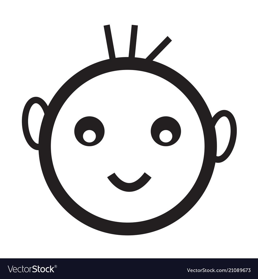 Happy Kid Icon Royalty Free Vector Image Vectorstock