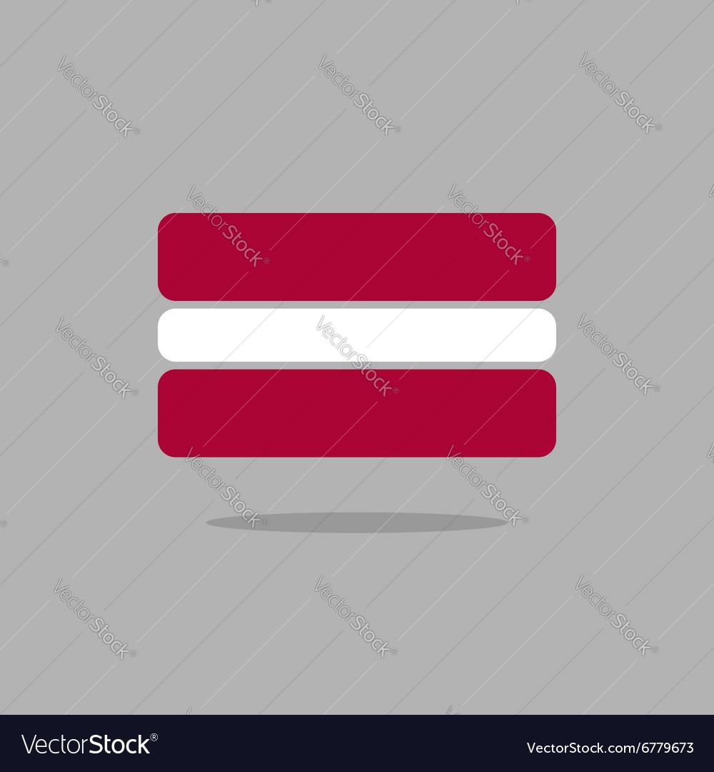 Latvia flag Stylized Latvian flag of geometrical