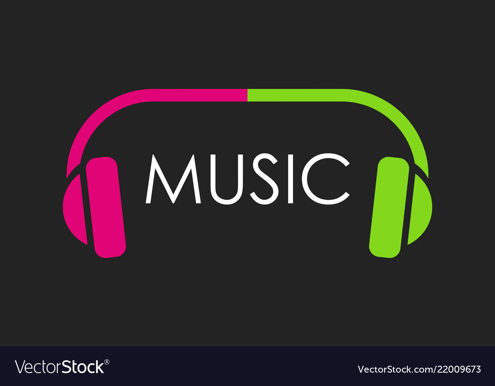 Logo for musical web site or club in dark color