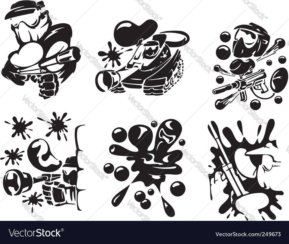 Paintball extreme sport vector image