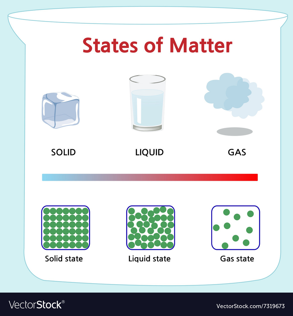 Forms Of Matter >> States Of Matter Royalty Free Vector Image Vectorstock