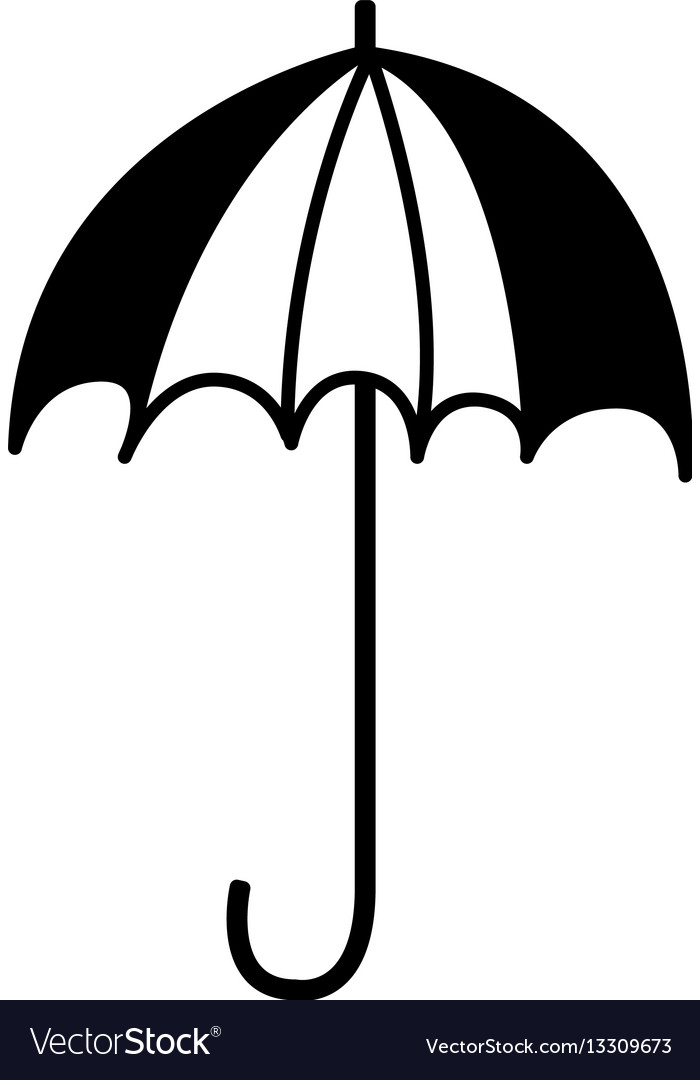 Umbrella drawing isolated icon