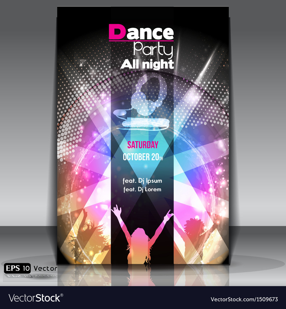 urban dance party flyer royalty free vector image