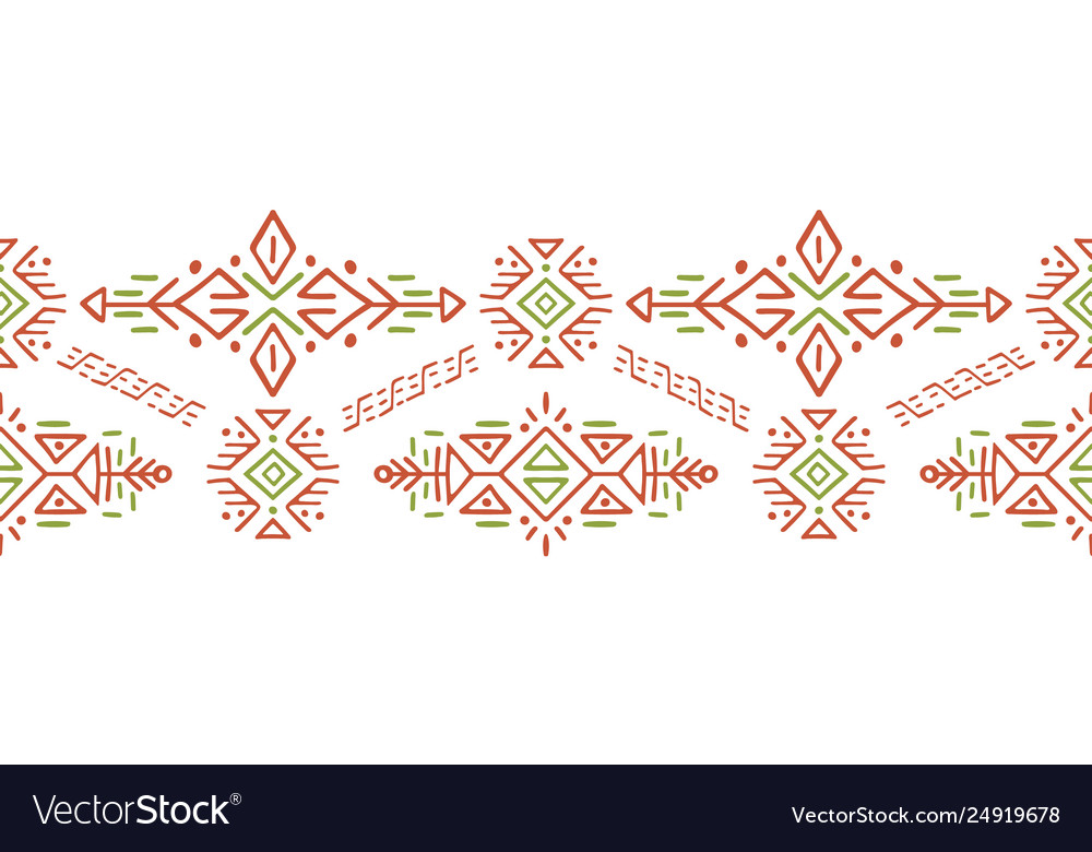 African ethnic style stripe ornament