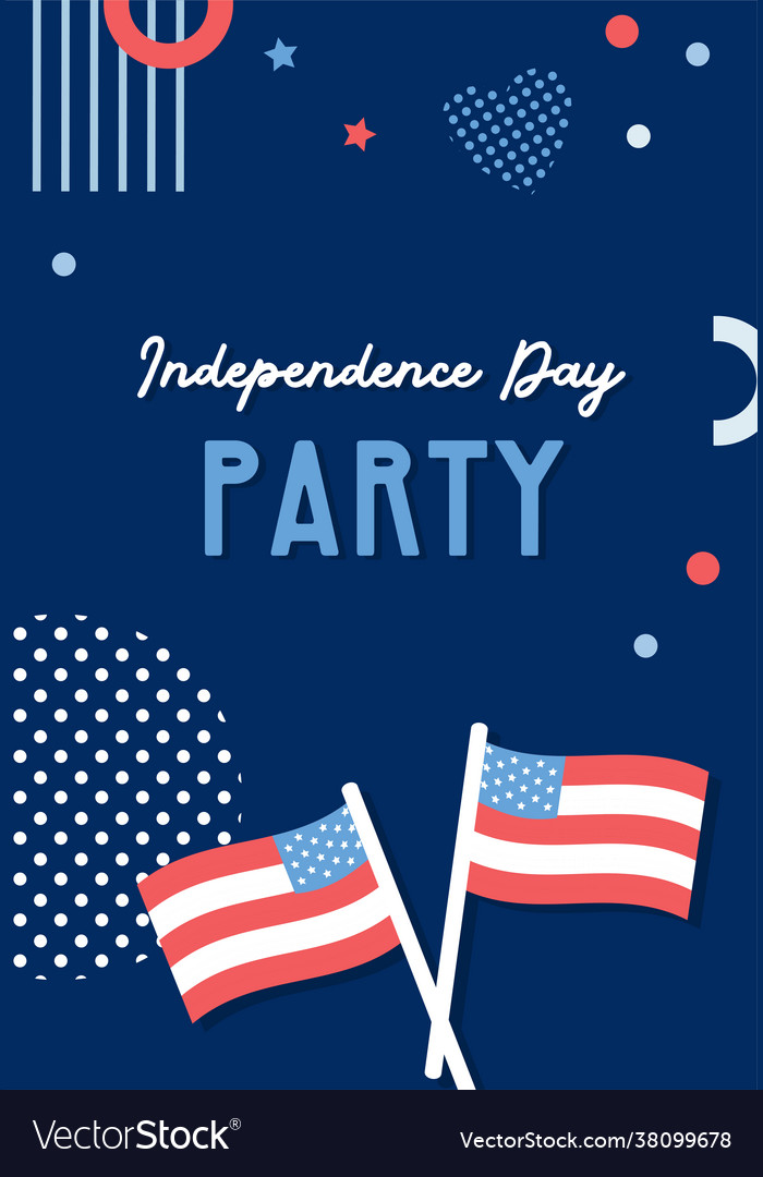 American independence day celebrations greeting