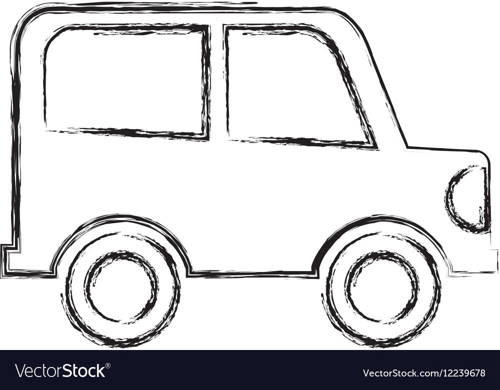 Car drawing isolated icon