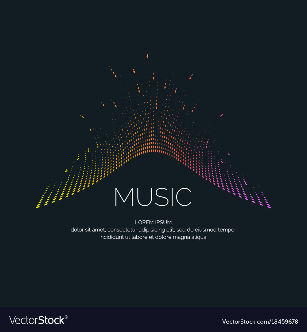Music wave in the form of