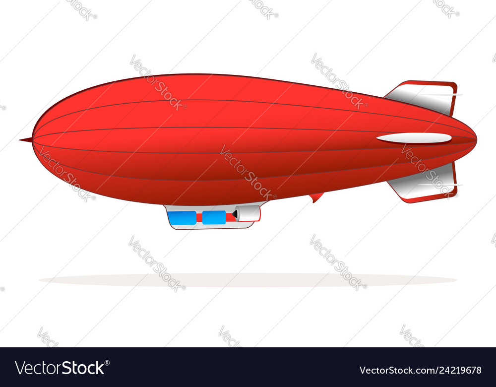 Red blimp vector