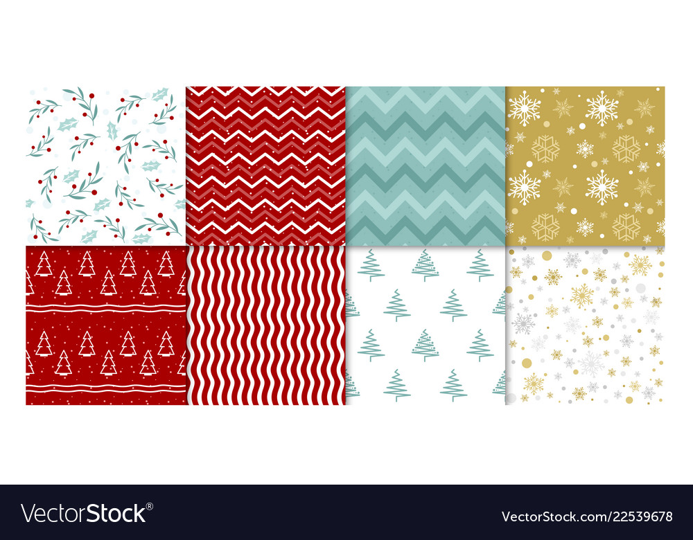 Set of winter patterns