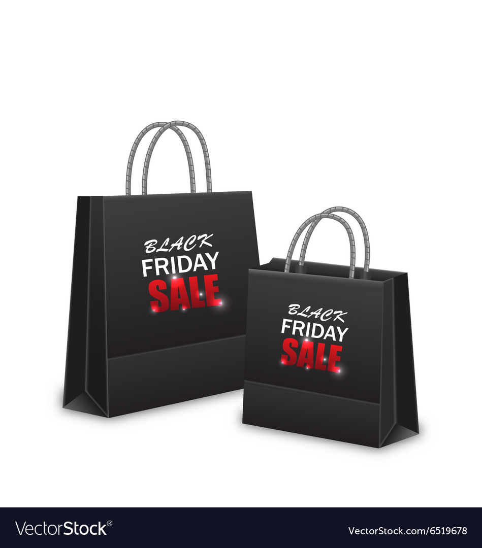 Shopping Paper Bags for Black Friday Sales