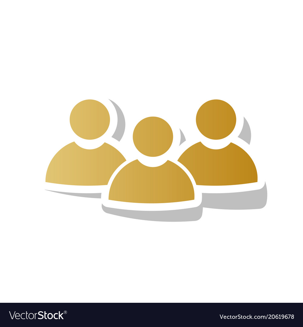 Team work sign golden gradient icon with