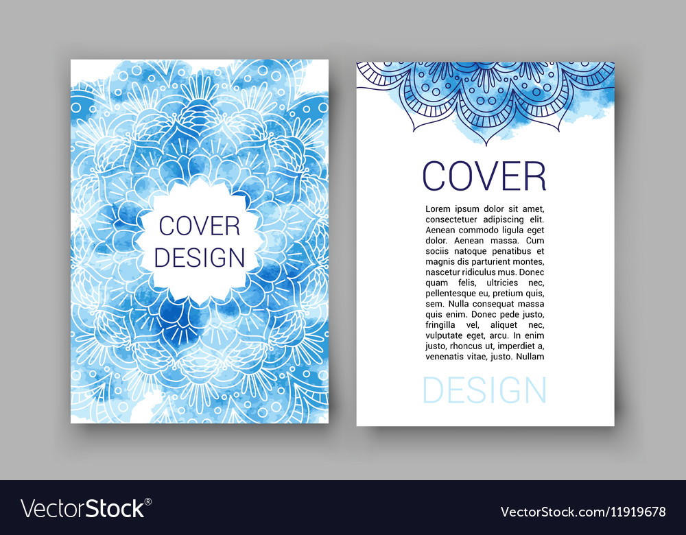 Template Brochure Pages Ornament Royalty Free Vector Image