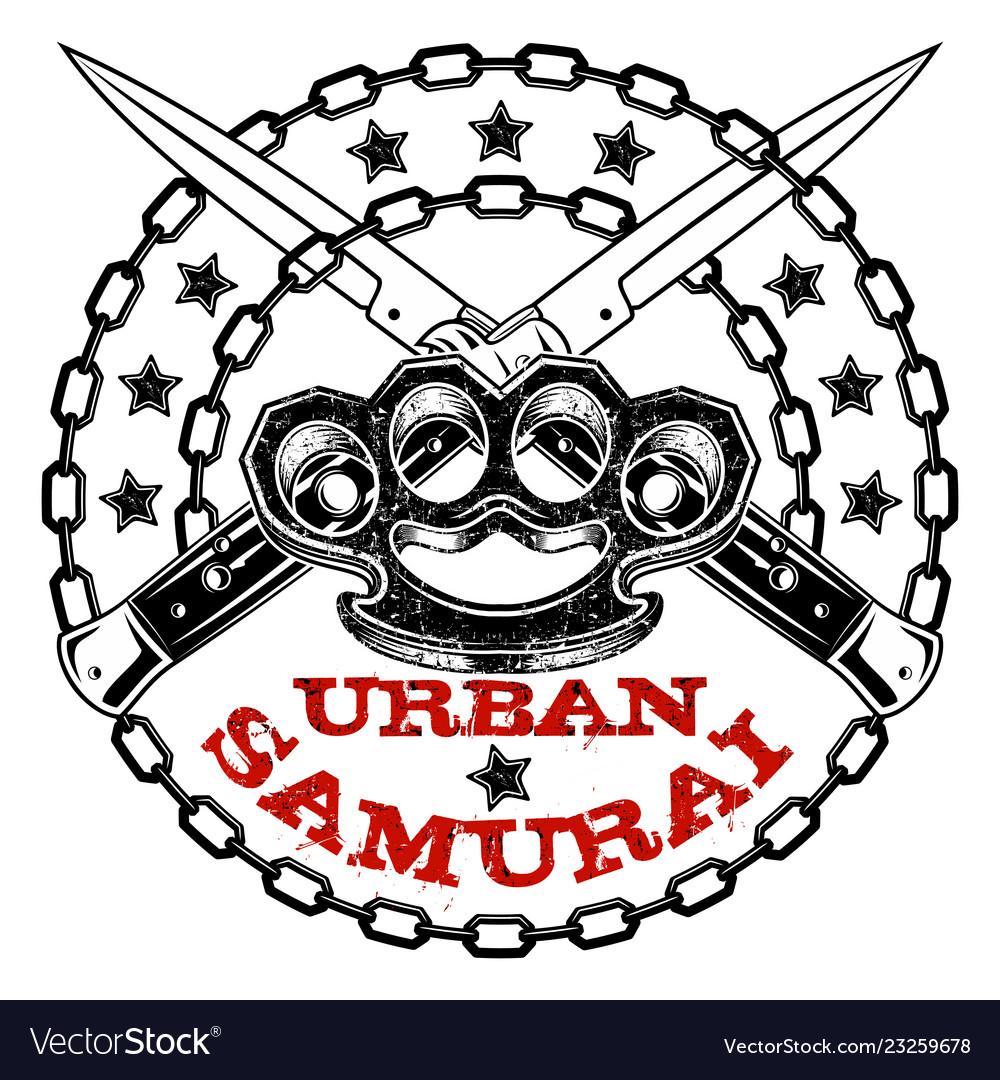 Urban Samurai 0009 Royalty Free Vector Image Vectorstock