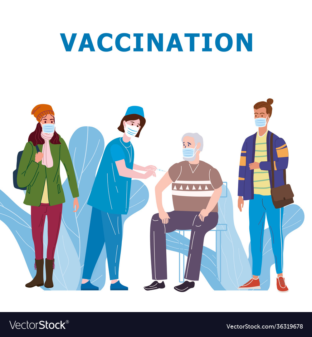 Vaccination people for immunity health doctor and