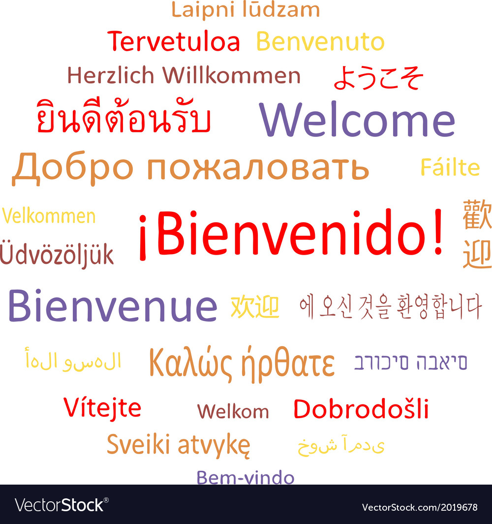 Welcome In Different Languages Royalty Free Vector Image