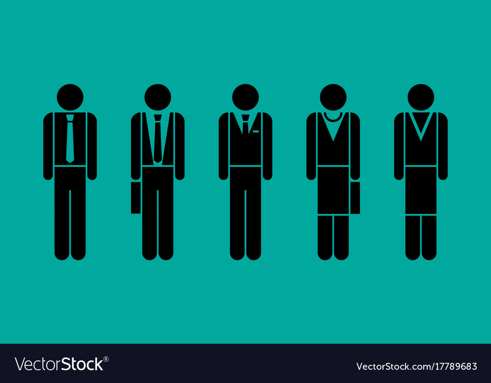 Business people graphic set vector image