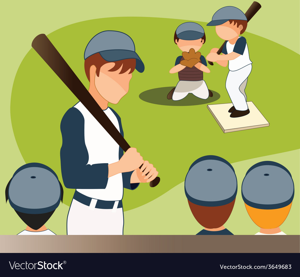 Children-playing-baseball vector image
