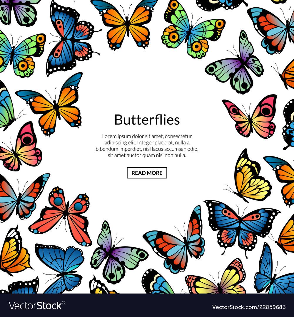 Decorative butterflies background