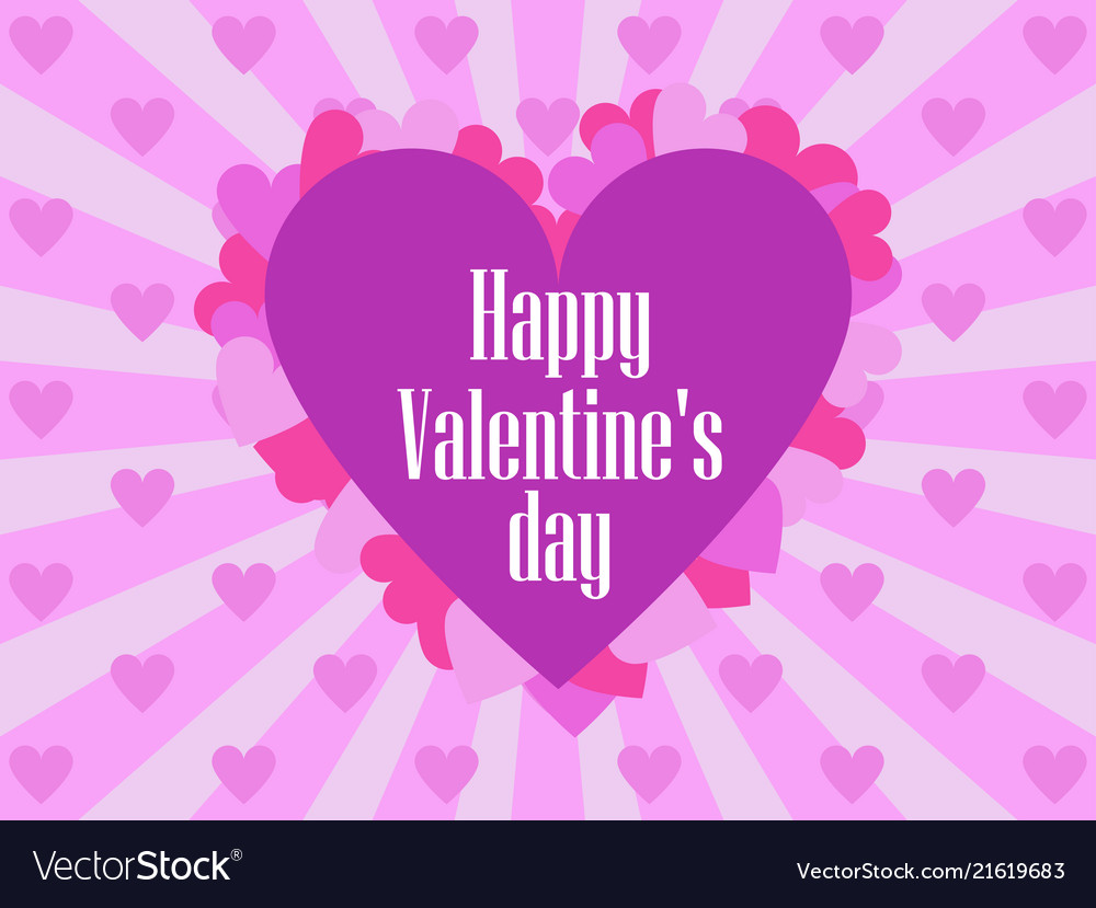 Happy valentines day festive background for