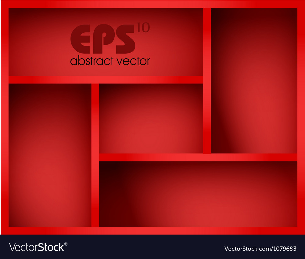 Red shelf vector image