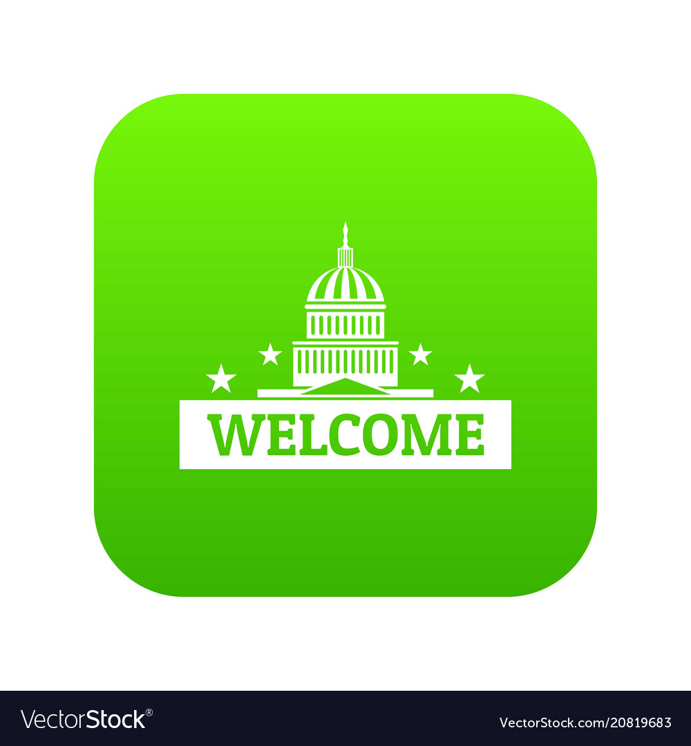 Welcome to usa icon green