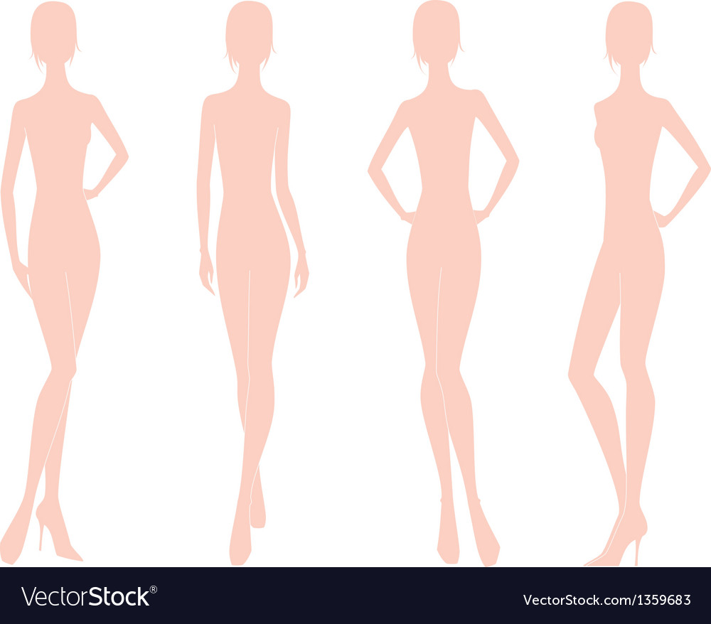 Women Fashion Figure Royalty Free Vector Image