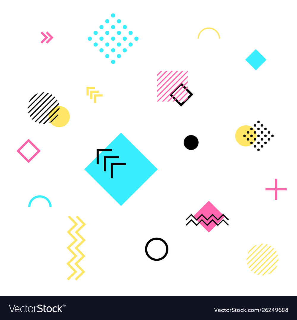 Abstract geometric background future patterns