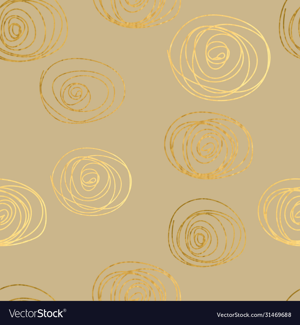 Gold texture circles seamless pattern abstract