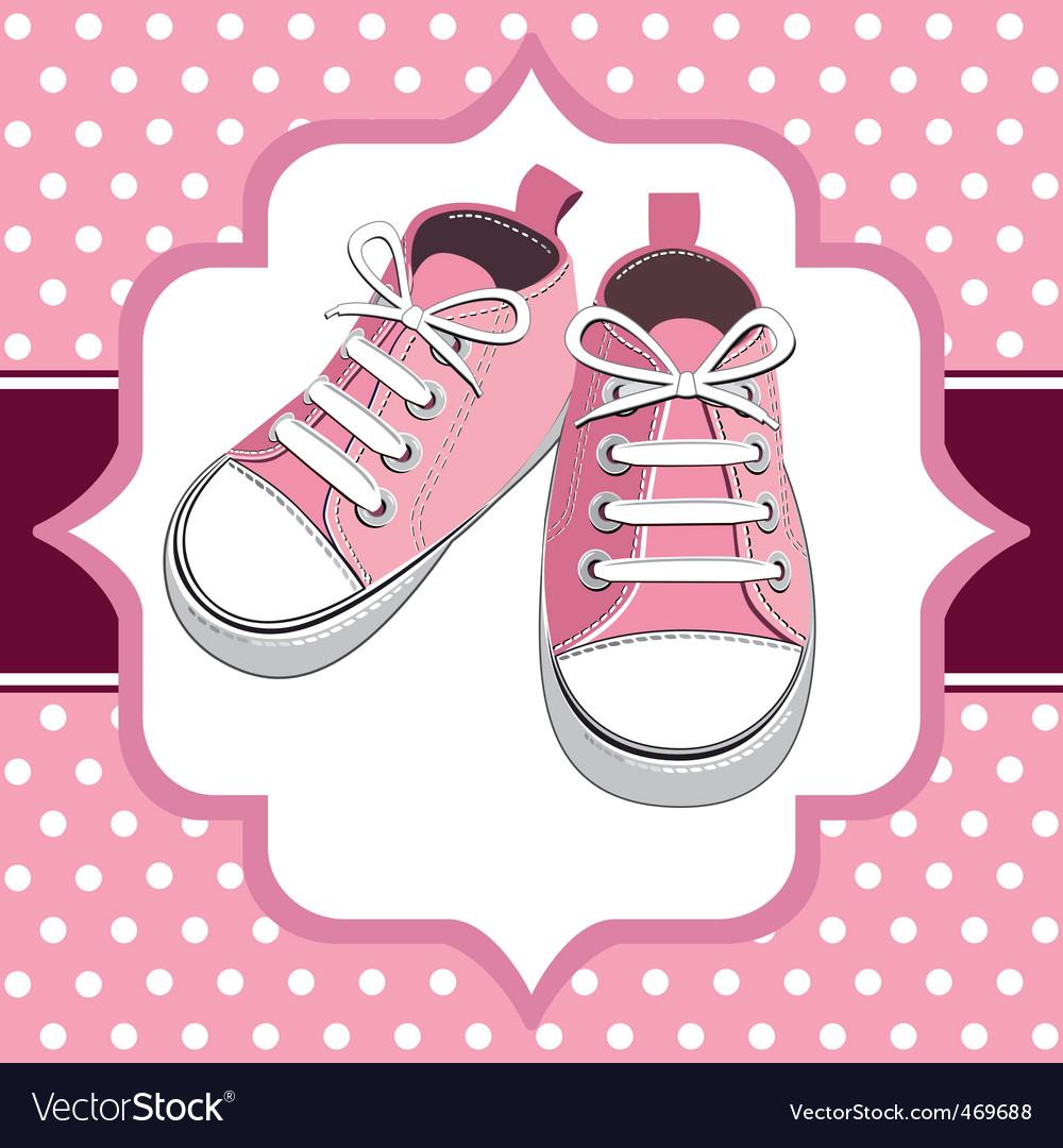 Kids sneakers vector image