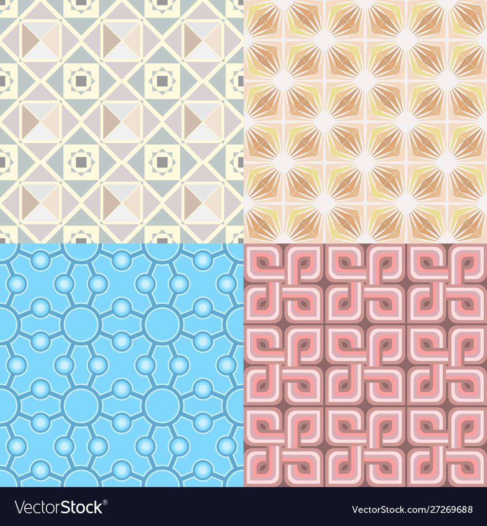 Retro wallpaper set - vintage patterns