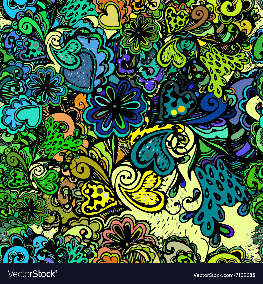 Seamless texture with abstract flowers vector image