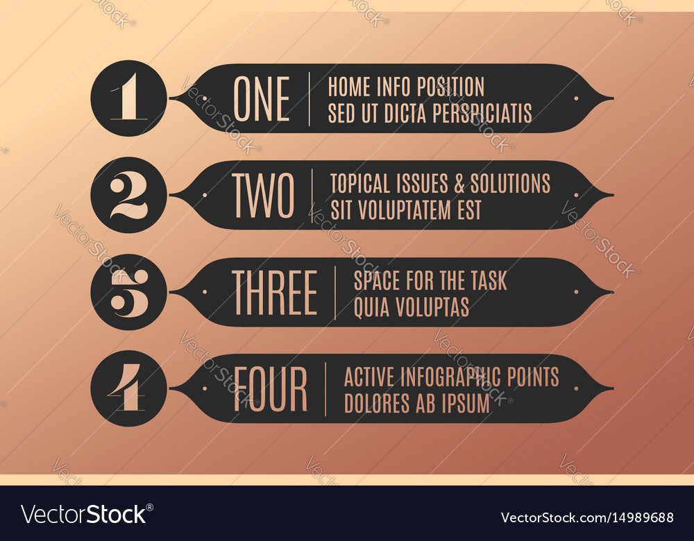 Set of infographic design vintage arrows banners