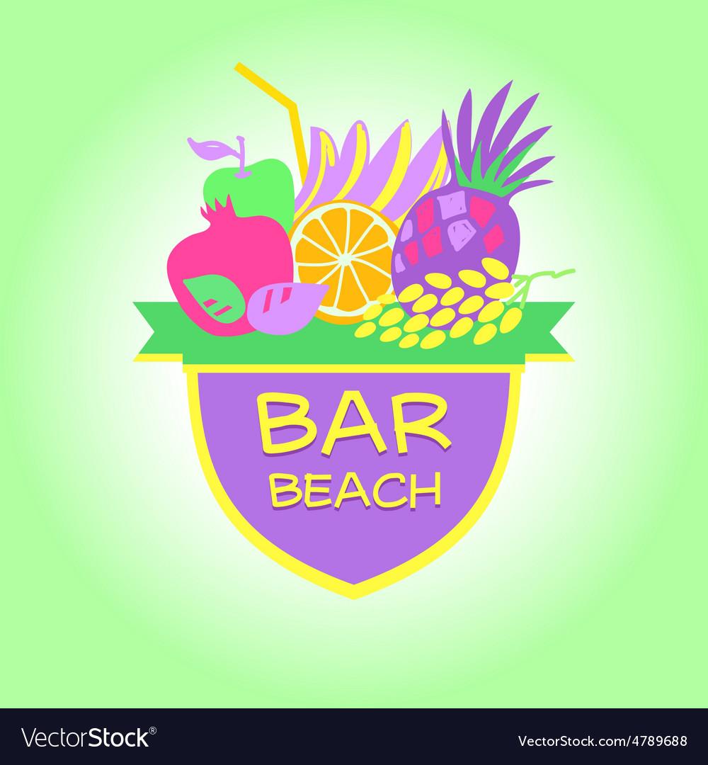 Template logo Beach bar party