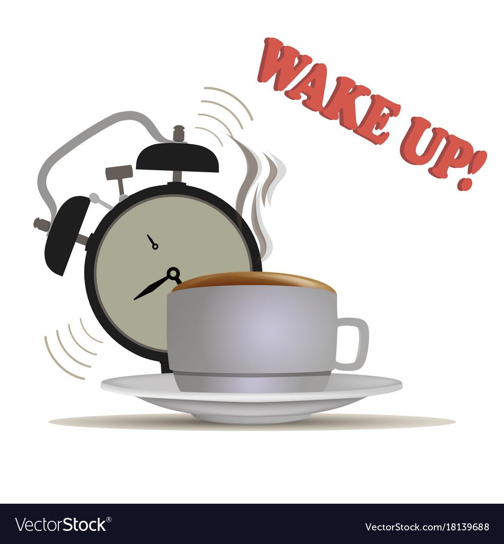 Wake up coffee waking morning clock alarm sleep