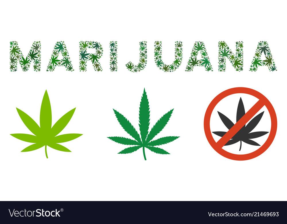 Marijuana Text Collage Of Marijuana Royalty Free Vector