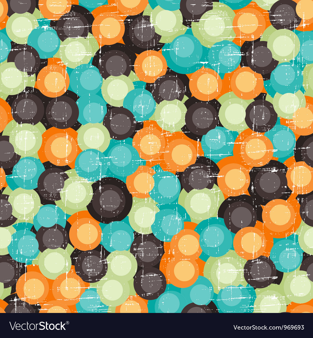 Retro Bubbles Pattern vector image